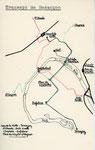 Plan dessiné par Jacques BAZIN de l'ancien réseau des tramways bisontins