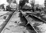 Motrices KTP-2, dans la rue Stasova en pleins travaux de voies, en 1968. Photo fournie par l'association STTS