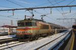 Les Aubrais. 8 février 2018. Locomotive BB 7269. Train 14035 Paris - Tours. CLiché Pierre Bazin