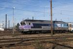 Les Aubrais. 11 mars 2017. Locomotive diesel CC 72121 stationnée sur le faisceau marchandises. Cliché Pierre Bazin