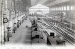 Intérieur de la gare d'Austerlitz sous la grande halle Polonceau