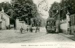 Fontainebleau-T-082 : Avon, avenue de Valvins, au carrefour des Basses-Loges.
