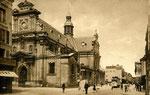 Fontainebleau-T-038 : Rue Grande et église Saint-Louis.