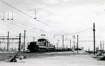 Les Aubrais. 1er septembre 1957. Locomotive de manoeuvres CC 1108. Butte du triage. Cliché Gilbert Moreau. Collection Xavier Inguenaud