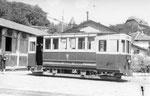 Besançon-019 : Le dépôt des tramways. Cliché Christian Schnabel, août 1948