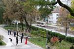 Krasnodar-T-004 : Motrice 71-619 KT n° 238 sur la ligne 4, près du parc Gorkiy, apprécié par les jeunes mariés pour prendre quelques photos. Cliché Pierre BAZIN, 20 octobre 2013