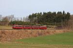 Près de Dockweiler. 2 avril 2010. Autorails VT798 Schienenbus. Train 1A Gerolstein - Ulmen. Cliché Pierre BAZIN
