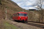 Pünderich. 5 avril 2010. Autorail Schienenbus VT 795-256. Navette supplémentaire Bullay - Reil. Cliché Pierre BAZIN