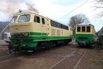 Brohl. 3 avril 2010. Dépôt du Brohltalbahn. Locomotive diesel Henschel n° D5. Cliché Pierre BAZIN