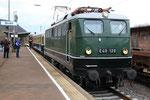 Brohl. 3 avril 2010. Locomotive E40-128. Train spécial à destination du musée de la DB de Koblenz. Cliché Pierre BAZIN