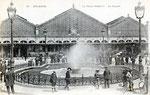 Vue extérieure de la gare de 1905 avec la marquise à trois travées