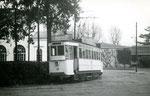Fontainebleau-T-005 : Gare de Fontainebleau-Avon. Motrice n°13. Cliché Jacques BAZIN. 11 novembre 1950