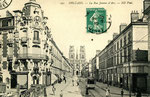 Orléans-T-076 : rue Jeanne d'Arc et cathédrale Sainte-Croix