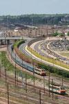 Les Aubrais. 1er mai 2009. Locomotive BB 26043. Train IC Téoz 3645 Paris-Austerlitz - Toulouse. Cliché Pierre Bazin
