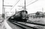 Les Aubrais. 1er septembre 1957. Locomotive 2D2 5500. Express 13 Paris - Tours. Cliché Gilbert Moreau. Colelction Xavier Inguenaud