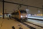 Les Aubrais. 6 février 2018. Locomotive BB 26159. Train 14067 Paris - Tours accusant un retard d'1h57min. Cliché Pierre Bazin