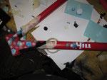 2 Kriterien waren gegeben: Der Rahmen musste unbedingt rot werden und die Gabel sollte original bleiben.