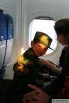 auf dem Flug von Dashogus nach Ashgabat