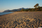 am Strand vom Campingplatz
