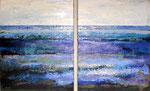 # Landschap in lila/paars # 2x80x100 verkocht