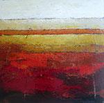 # Landschap in rood/oker # 120x120 privé collectie