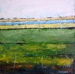 # Landschap in groen # 80x120 privé collectie