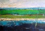 # Landschap in blauw/groen # 80x120 verkocht