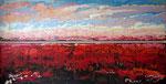 # Landschap in rood/lila # 2x50x200 verkocht