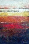 # Landchap in oker/terra/rood # 80x120 privé collectie
