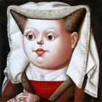 Портрет девушки.      2008 г. Холст, масло. 24х24 см.