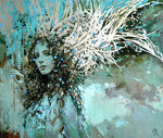 Ангел с осенью в сердце.       2010 г. Холст, масло. 80х95 см.
