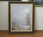 Артем Белостоцкий.     Старый маяк в Гаграх.   2011 г.      Холст, масло.     72х55 см.
