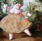 Танец Вакханки.     2008 г. Холст, масло. 43х44 см.