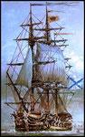 "Фрегат ""Александр Невский"". 1757 г.        2009 г. Холст, масло. 80х50 см."