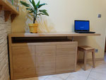 Meuble combiné TV et bureau