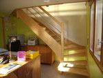 escalier en frène comtemporain