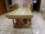 table monastère en tilleul