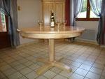 table ronde en frêne