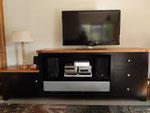 Meuble TV en merisier et couleur noir