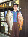 フエダイ(右) : 煮付けで美味い夏の魚。引きも強引系で面白い。