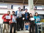 男子クラスの表彰式