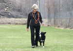 Tatscho mit Rosmarie im Obedience Training