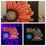 - Strahlend - 40cm x 60cm, Acryl auf Leinwand, fluoreszierend, phosphoreszierend