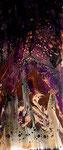 -Jäger im Wald-  70cm x 30cm, Acryl auf Leinwand