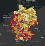 Robert Koch-Institut: COVID-19-Dashboard nach Landkreisen