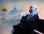 """day dream"" (2019) Acryl/Ölfarben auf Leinwand, 80 x 100 cm"