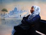 """""""daydream"""" (2019) Acryl/Ölfarben auf Leinwand, 80 x 100 cm"""
