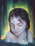 """""""Regenzeit"""" (2016), 60 x 80 cm, Öl auf Leinwand"""