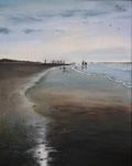 Nordsee V (2018), Öl auf Leinwand, 40 x 50 cm