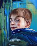 """Blick-zurück"" (2015), Öl auf Leinwand, 40 x 50 cm"